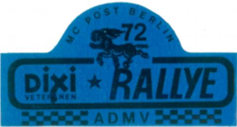 Dixi-Rallye-Logo, MC Post Berlin im ADMV